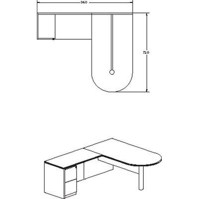 Mayline Group Luminary Series Desk Peninsula Typical #11