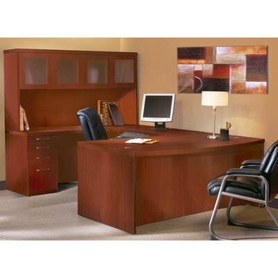 mayline aberdeen series u shape executive desk with hutch reviews wayfair. Black Bedroom Furniture Sets. Home Design Ideas