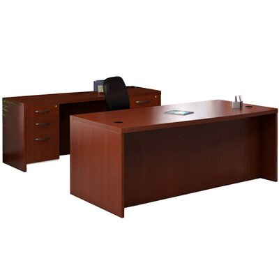 Mayline Group Aberdeen Series 2-Piece Standard Desk Office Suite