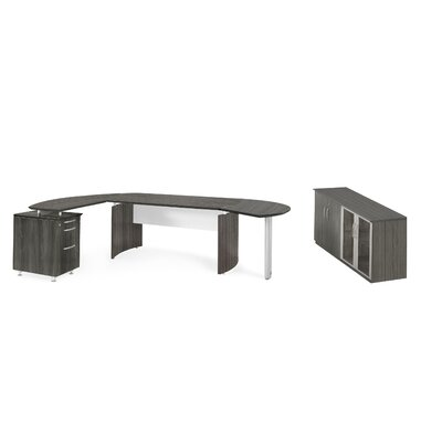 Mayline Group Medina Series L-Shape Desk Office Suite
