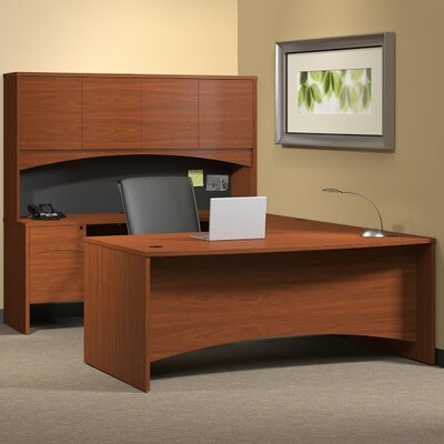 Mayline Group Brighton Series U-Shape Exec/Comp Desk with Hutch