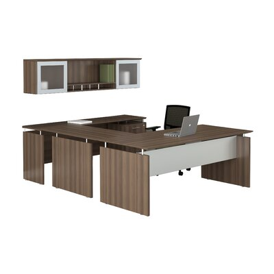 Mayline Group Medina 7-Piece U-Shape Desk Office Suite