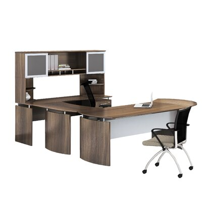 Mayline Group Medina 9-Piece Standard Desk Office Suite