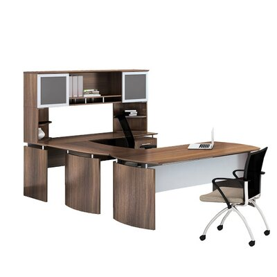 Mayline Group Medina 8-Piece U-Shape Desk Office Suite