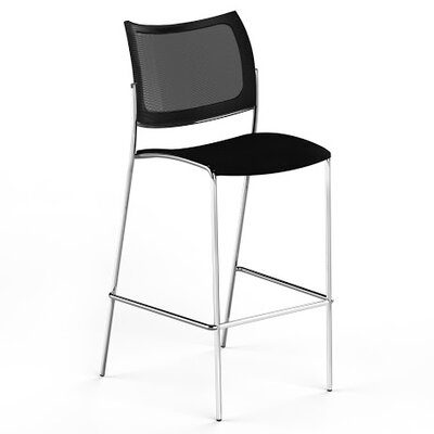Mayline Group Escalate Stacking Stool with Mesh Back and Plastic Seat (Set of 2)