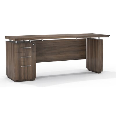 Mayline Group Sterling Credenza Desk with Box/Box/File Single Pedestal