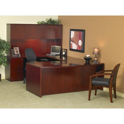 Mayline Group Luminary Series U-Shape Executive Desk with Hutch