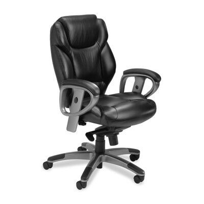 Mayline Group Series 300 Mid-Back Leather Executive Chair