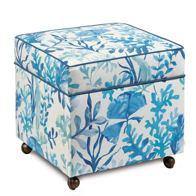Eastern Accents Olympia Azure Storage Boxed Ottoman