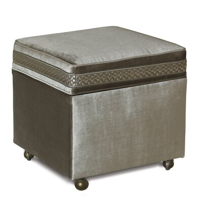 Eastern Accents Ezra Velda Smoke Storage Boxed Ottoman