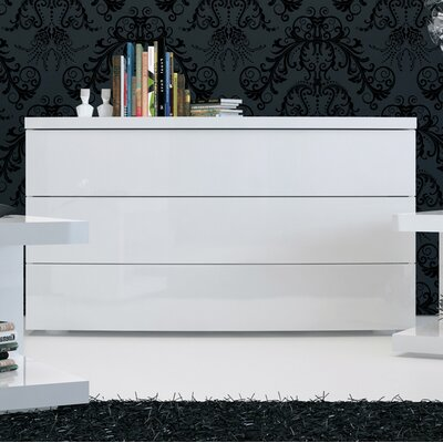 Modloft Ludlow 3 Drawer Dresser
