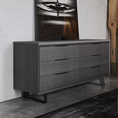 Modloft Amsterdam 6 Drawer Dresser