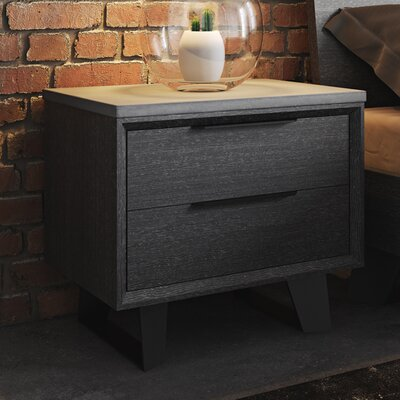 Modloft Amsterdam 2 Drawer Nightstand