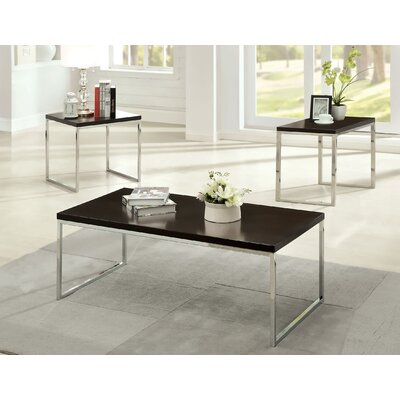 Hokku Designs Howie Retro 3 Piece Coffee Table Set