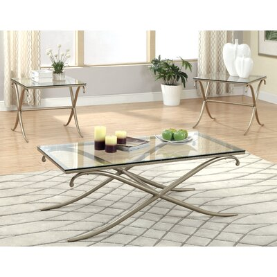 Hokku Designs Tatianna 3 Piece Coffee Table Set