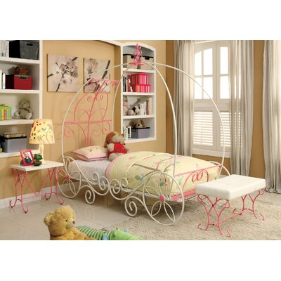 Hokku Designs Fairy Tale Twin Canopy Customizable Bedroom Set