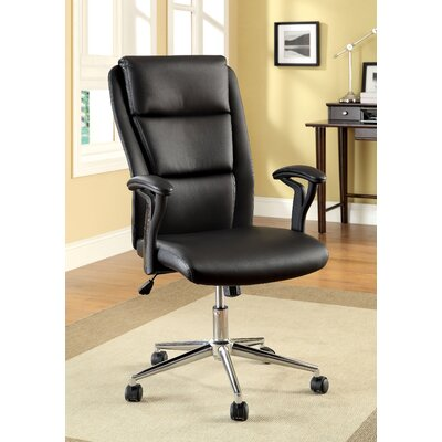 Hokku Designs Ravi High-Back Leatherette Executive Chair with Arms