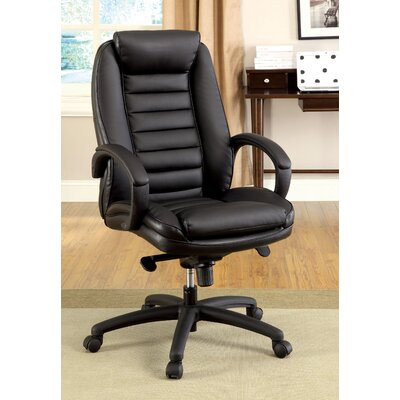 Hokku Designs Jun Hight-Back Leatherette Executive Chair with Arms
