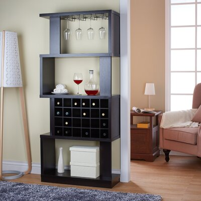 Wade Logan Anay 24 Bottle Floor Wine Rack