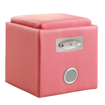 Hokku Designs Reverb Cube Ottoman with Bluetooth Speakers