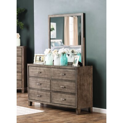 Hokku Designs Nina 6 Drawer Dresser with Mirror