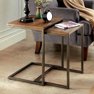 Mercury Row Eudora 2 Piece Nesting Tables (Set of 2)