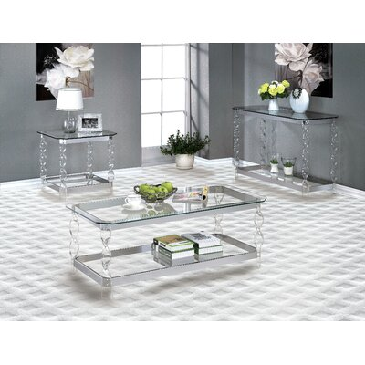 Mercer41 Dahlia Coffee Table Set