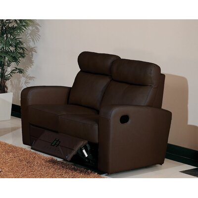 Hokku Designs Leather Reclining Loveseat