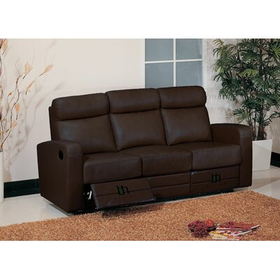 Hokku Designs Leather Reclining Sofa