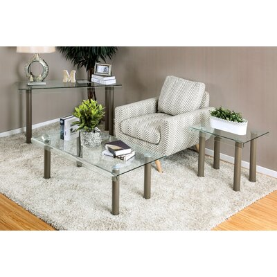 Wade Logan Torrance 3 Piece Coffee Table Set