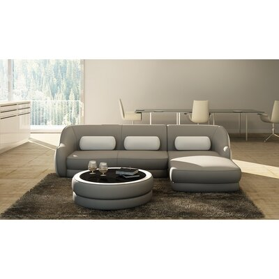Hokku Designs Addison Leather Sectional