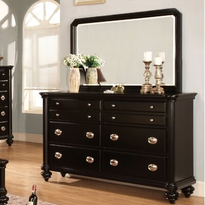 Hokku Designs Olivia 8 Drawer Dresser with Mirror