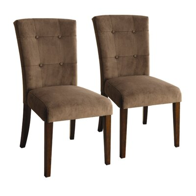 Hokku Designs Zoie Velvet Parsons Chair (Set of 2)