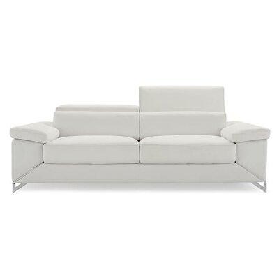 Wade Logan Asa Leather Sofa Wayfair