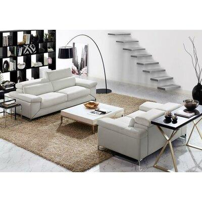 Wade Logan Asa Leather Sofa and Loveseat Set