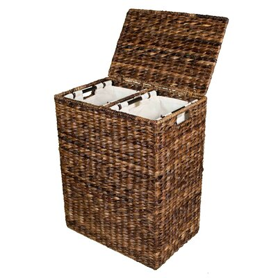 Birdrock home abaca divided laundry hamper reviews wayfair - Divided clothes hamper ...