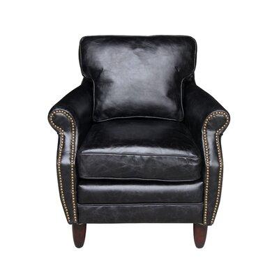 Melange Home Leeds Leather Armchair