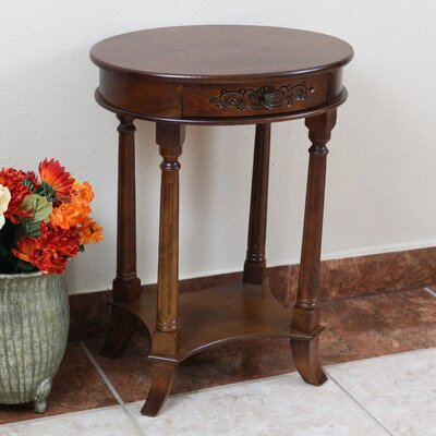 Astoria Grand Barron Hand Carved End Table