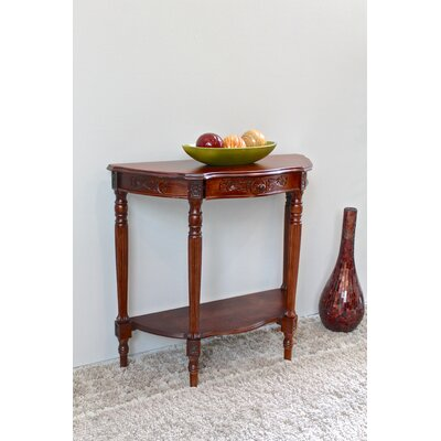 Astoria Grand Barron Hand Carved Half Moon Console Table