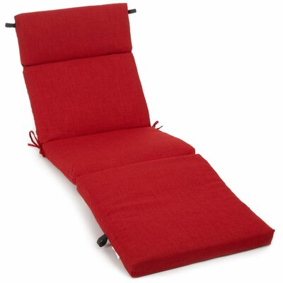 Blazing needles outdoor chaise lounge cushion reviews for Blazing needles chaise cushion