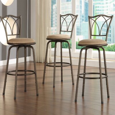 Kingstown Home Almeras Swivel Bar Stool (Set of 3)