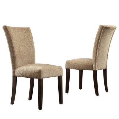 Three Posts Malta Chenille Parson Chair (Set of 2)
