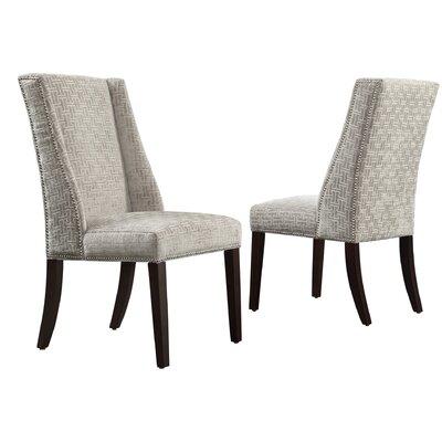House of Hampton Mirren Link Print Wingback Side Chair (Set of 2)