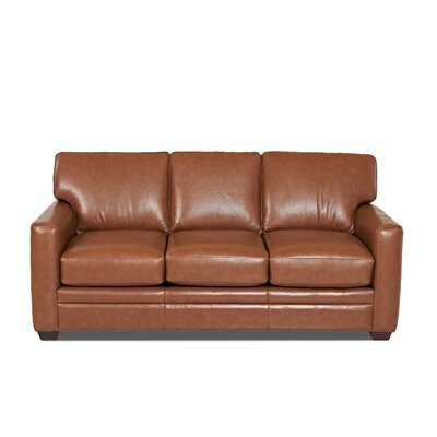 Wayfair Custom Upholstery Carleton Leather Sofa