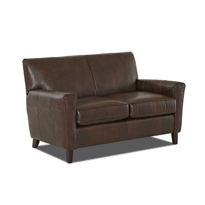 Wayfair Custom Upholstery Grayson Leather Loveseat