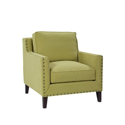 Classic Comfort Modern Track Arm Chair with Tapered Leg