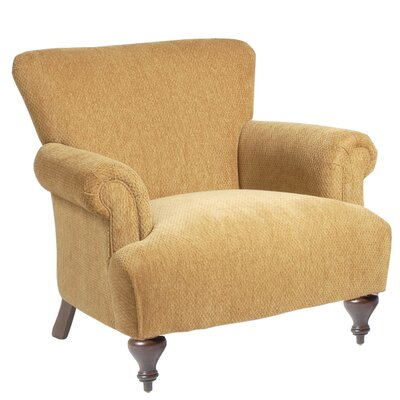 Classic Comfort Arm Chair with Turned Leg