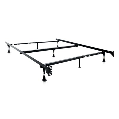Malouf 7 Leg Adjustable Metal Bed Frame with Center Support & Glide