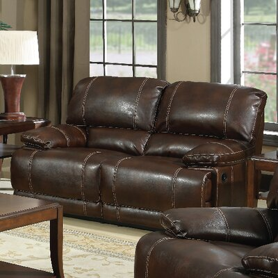 E-Motion Furniture Mt. Hood Leather Reclining Loveseat