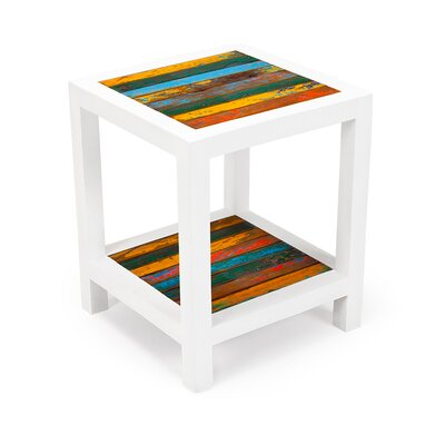EcoChic Lifestyles Second Wind Reclaimed Wood Side Table